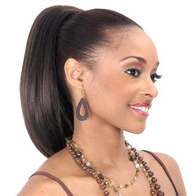 Shaggy Natural Straight Synthetic Charming Long Black Mixed Drawstring Ponytail For Women