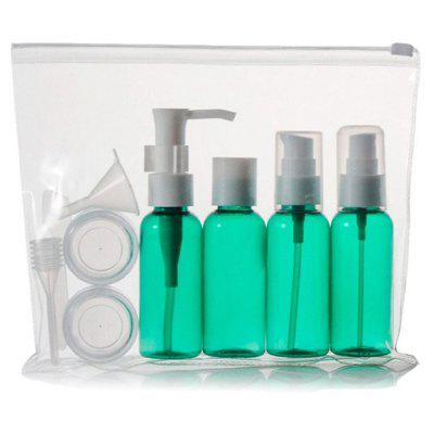 Stylish 9 PCS/Set Spray Bottle Latex Bottle Cream Jars Travel Split Charging Containers