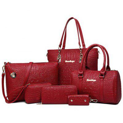 Simple Crocodile Print and PU Leather Design Women's Tote Bag
