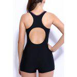 Racerback Boy Shorts One-Piece Swimsuit for sale