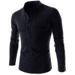 Buy CADETBLUE, Apparel, Men's Clothing, Men's T-shirts, Men's Long Sleeves Tees for $10.06 in GearBest store