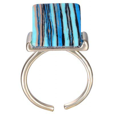 Chic Alloy Blue Turquoise Decorated Ring For Women