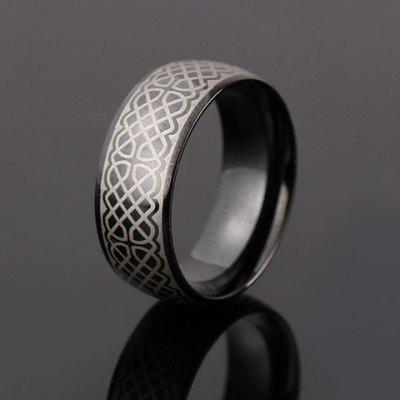 Chic Stainless Steel Circular Ring For Men