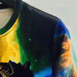 Trippy 3D Hourglass Print Round Neck Short Sleeves Slim Fit T-Shirt For Men - COLORMIX