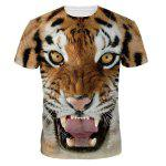 Buy COLORMIX Cool 3D Tiger Print Round Neck Short Sleeves T-Shirt For Men for $11.12 in GearBest store