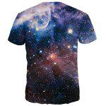 Vast Starry Sky Print Round Neck Short Sleeves 3D T-Shirt For Men deal