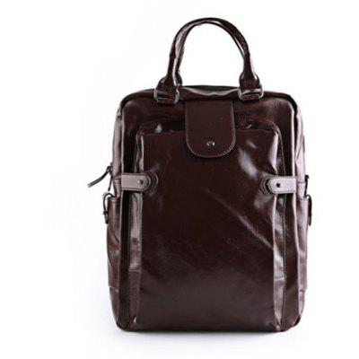 Stylish Zippers and Solid Colour Design Backpack For Men