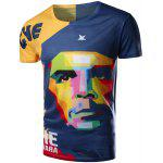 Buy COLORMIX Round Neck 3D Mix-Color Abstract Face Pattern Short Sleeve Men's T-Shirt for $11.06 in GearBest store