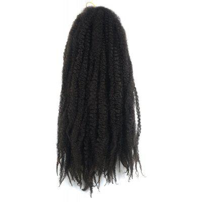 Trendy Long Kanekalon Synthetic Fluffy Afro Kinky Curly Braided Hair Extension For Women