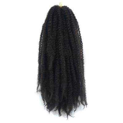 Long Kanekalon Synthetic Fluffy Afro Kinky Curly Braided Hair Extension