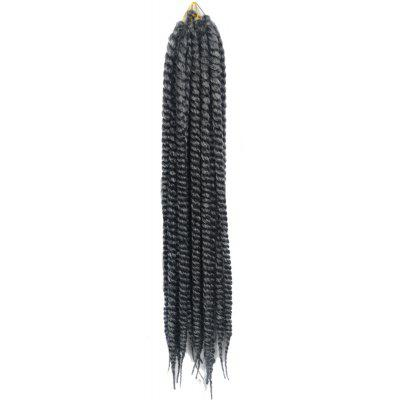 Long Kanekalon Synthetic White Ombre Dark Gray Dreadlock Braided Hair Extension
