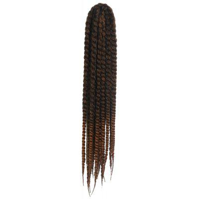 Stunning Dark Brown Ombre Kanekalon Synthetic Long Dreadlock Braided Hair Extension For Women