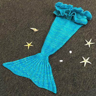 Chic Knitting Mermaid Design Baby Sleeping Bag Blanket