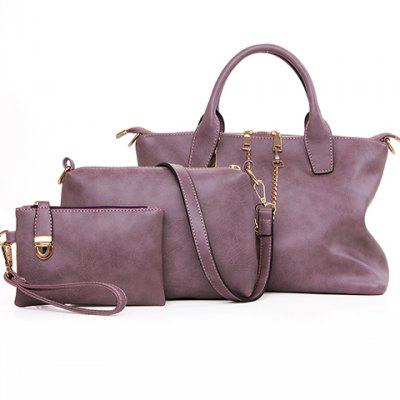 New Arrival PU Leather and Zipper Design Tote Bag For Women