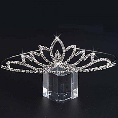 Graceful Rhinestone Floral Crown For Women