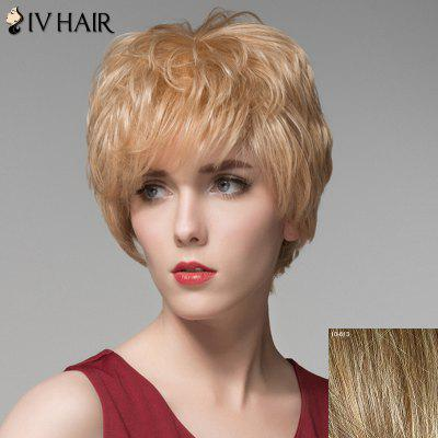 Bouffant Wave Capless Elegant Short Inclined Bang Human Hair Wig