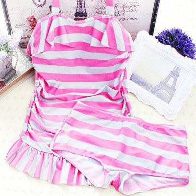 Doce Push Up Stripe Two Piece Swimsuit Para Mulheres