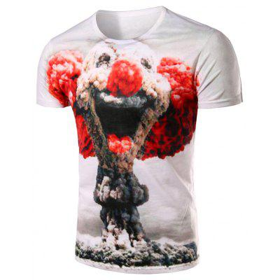 Buy Slimming Pullover Clown Printing T-Shirt For Men, WHITE, L, Apparel, Men's Clothing, Men's T-shirts, Men's Short Sleeve Tees for $14.95 in GearBest store