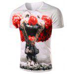 Buy WHITE Slimming Pullover Clown Printing T-Shirt For Men for $14.77 in GearBest store