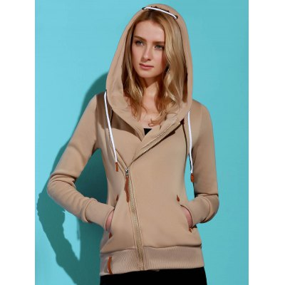 Solid Color Long Sleeves Hoodie