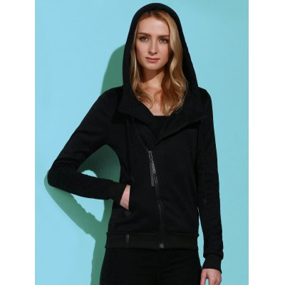 Casual Style Solid Color Mangas compridas Hoodie para mulheres