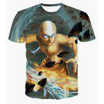 Buy COLORMIX Cool 3D Monk Print Round Neck Short Sleeves T-Shirt For Men for $11.42 in GearBest store