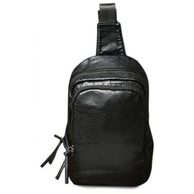 Black Colour Design Messenger Bag For Men