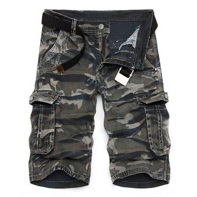 Buy Camo Print Multi-Pocket Loose Fit Straight Leg Zipper Fly Cargo Shorts For Men, CAMOUFLAGE, 34, Apparel, Men's Clothing, Men's Shorts for $22.22 in GearBest store
