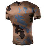cheap Camo Print Air Permeable Design Round Neck Short Sleeves T-Shirt For Men