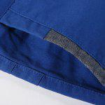 Casual Summer Zip Fly Straight Legs Shorts For Men - BLUE