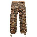 cheap Camouflage Straight Leg Multi-Pocket Loose Fit Cargo Pants For Men