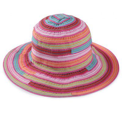 Multicolor Stripe Pattern Bucket Hat For Women