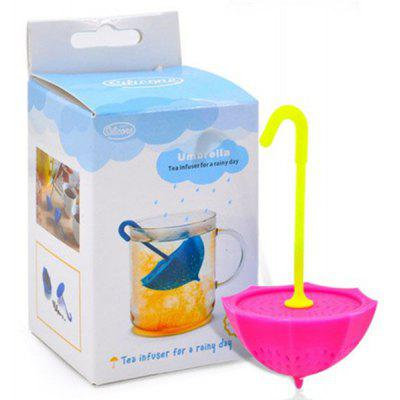 Buy ROSE Creative Silicone Tea Filter Umbrella Shape Teabags Strainer for $6.85 in GearBest store