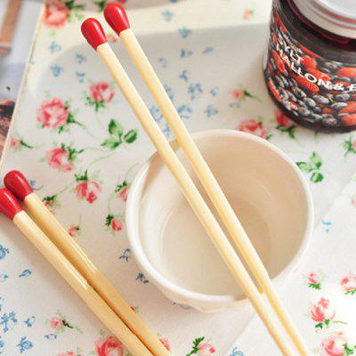Buy RED 2 Pair Creative Kitchen Supplies Matchstick Shape Wood Chopsticks for $5.34 in GearBest store