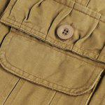 Loose Fit Summer Pockets Solid Color Cargo Shorts For Men deal
