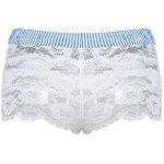 Sexy Elastic Waist Striped Lace Shorts For Women for sale