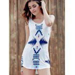 cheap Trendy Scoop Neck Sleeveless Geometric Print Women's Tank Top