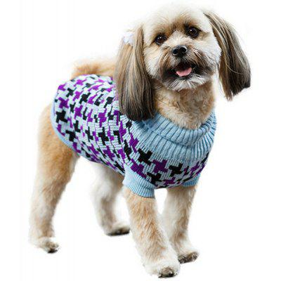 Fashion Pet Supplies Houndstooth Motif Color Matching Sweater Puppy Vêtements