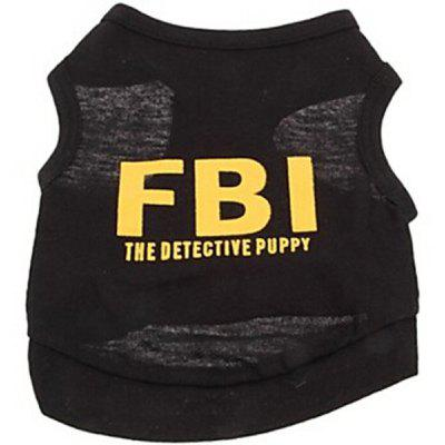Fashion Pet Supplies Letter Printing Vest Black Puppy Clothing