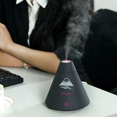 Mini USB Air Purifier Mist Diffuser Vulcão Shaped Humidifier com Night Light para Office Home