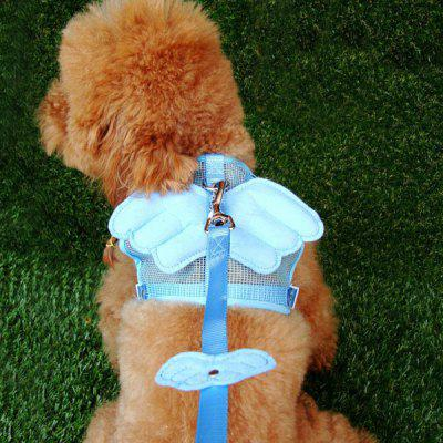 Angel Shape Breathable Mesh Fabric Dog Chest Straps