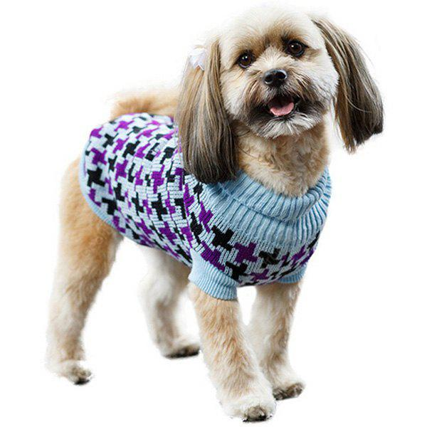 Fashion Pet Supplies Houndstooth Pattern Color Matching Sweater Puppy Clothing