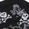 Fashion Pet Supplies Skull and Letter Pattern T-Shirt Black Puppy Clothing - BLACK