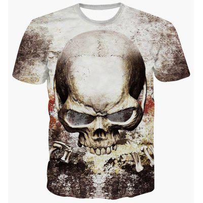 Fashion Pullover Skull Printing T-Shirt For Men