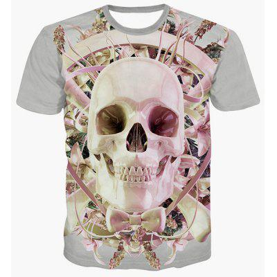 Fashion Pullover Round Collar Skull Printing T-Shirt For Men