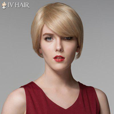 Short Side Bang Siv Hair Straight Side Bang Human Hair Wig