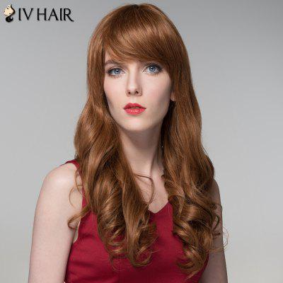 Siv Hair Shaggy Wavy Capless Trendy Long Side Bang Real Human Hair Wig