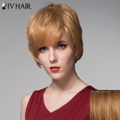 Straight Siv Hair Straight Side Bang Human Hair Wig