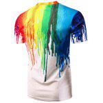 Casual Colorful Painting Pullover T-Shirt For Men - COLORFUL