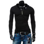 Buy BLACK, Apparel, Men's Clothing, Men's T-shirts, Men's Long Sleeves Tees for $14.16 in GearBest store